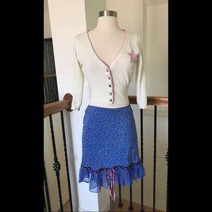Vintage Betsey Johnson Floral Skirt S